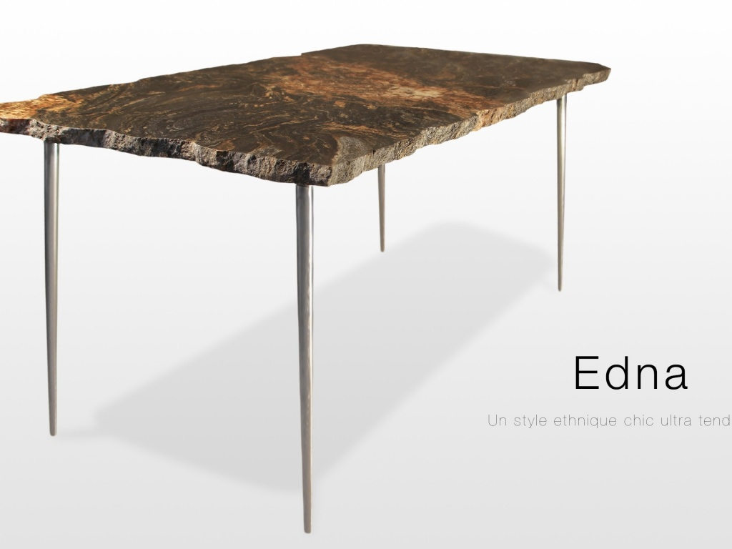 Edna: table basse en granit magma finition brute - Marbrerie ...