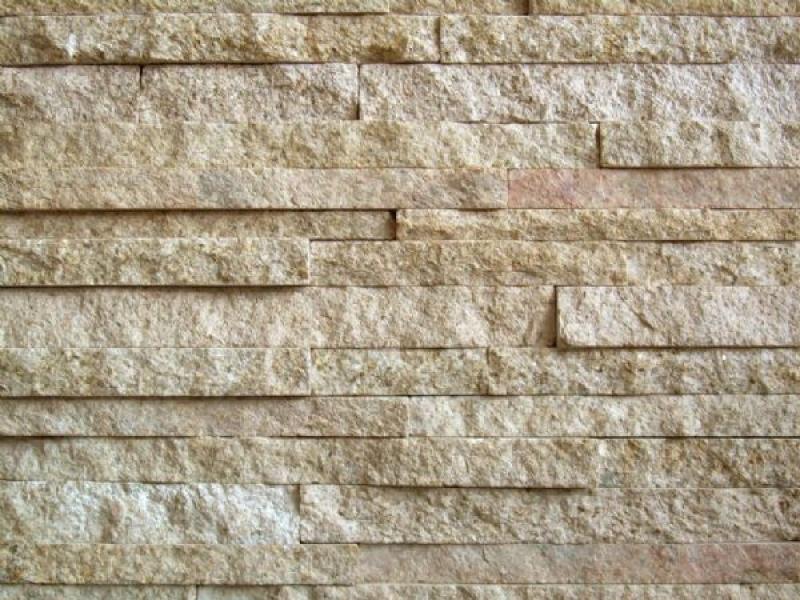 Granit Yellow Rock Stone Wall