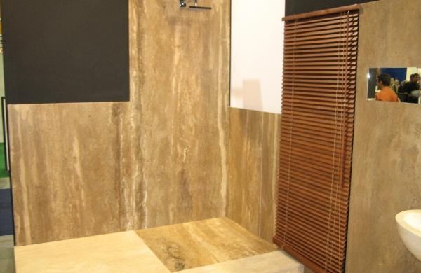 Salle de bains en Travertin Noce Travertin Noce - Marbrerie de La ...