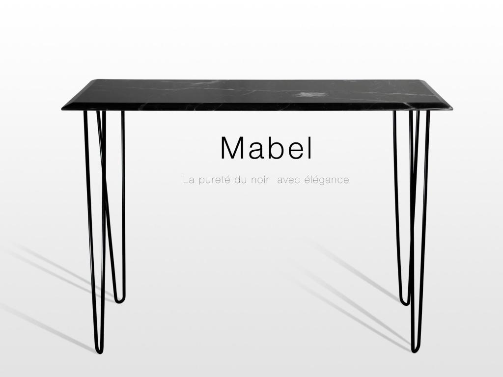 Mobilier Mabel: console en marbre noir
