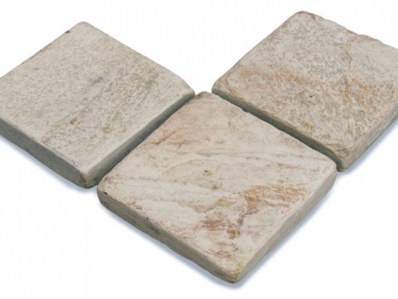 Oyster tumbled pavers