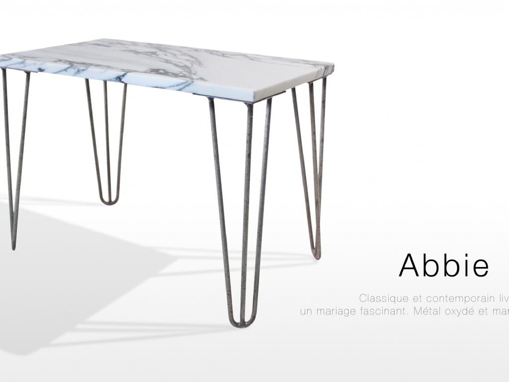 Mobilier Table basse en marbre blanc Arabescato
