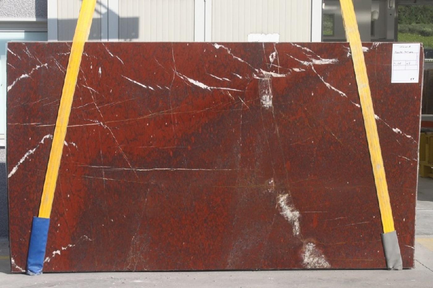 Tranches Rouge Griotte Extra polies à livre ouvert 315x177x2cm