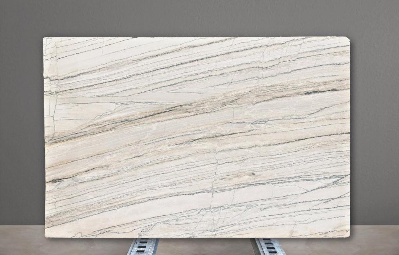 Glass Ceramic Tranche White Macaubas Vein Cut