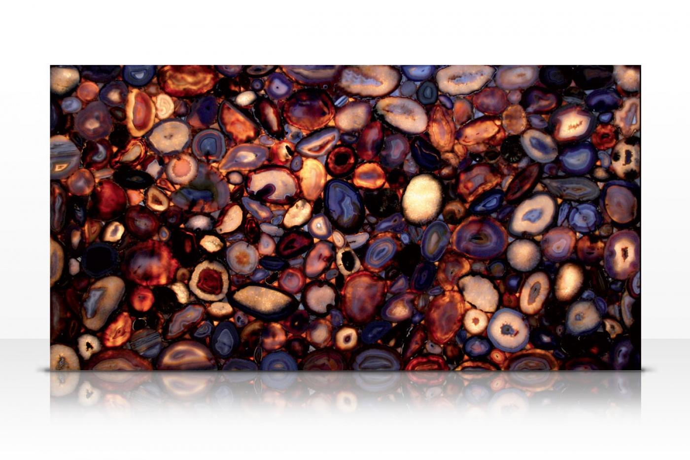 Marbre Natural Agate slab backlit