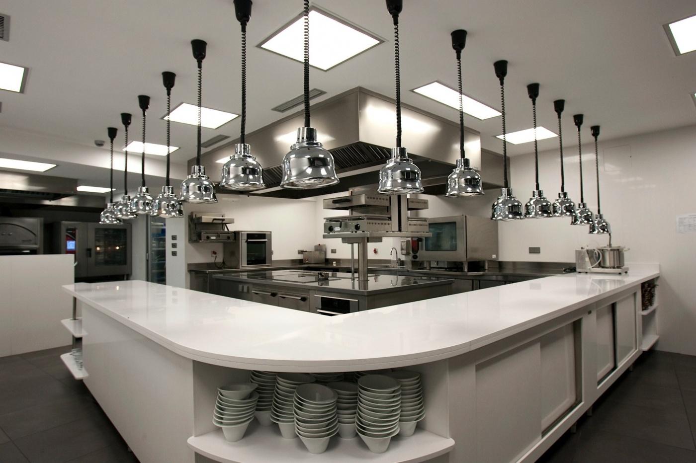 Quartzite Silestone Blanco Zeus Extreme Cuisine de restaurant