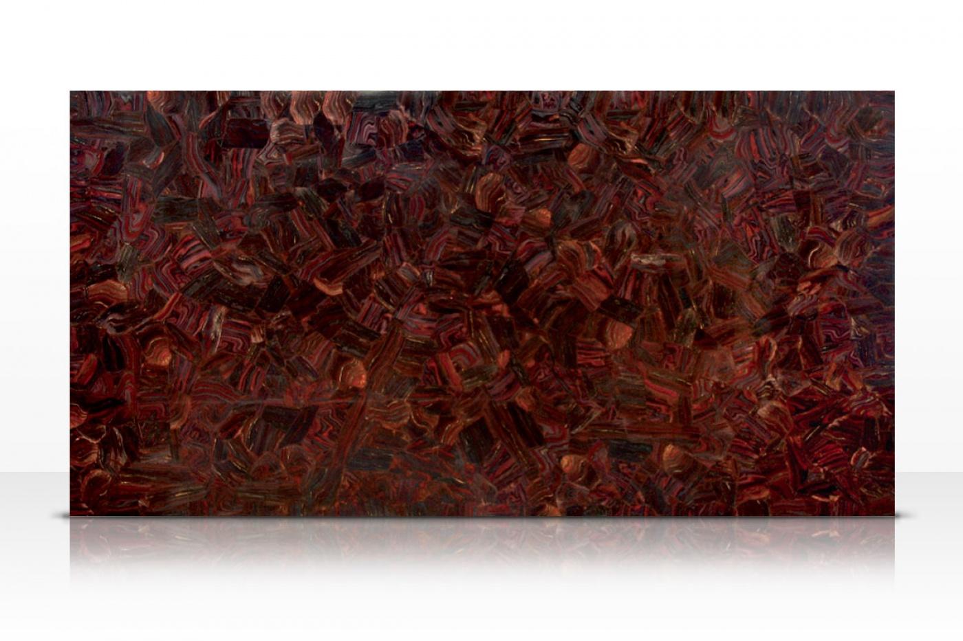 Composite Quartz Red Tiger Iron slab