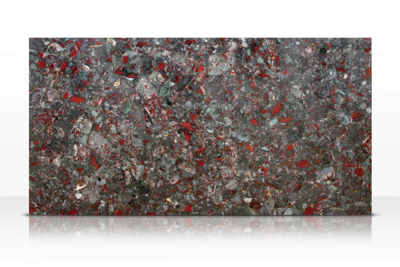 Semi-précieux Bloodstone slab