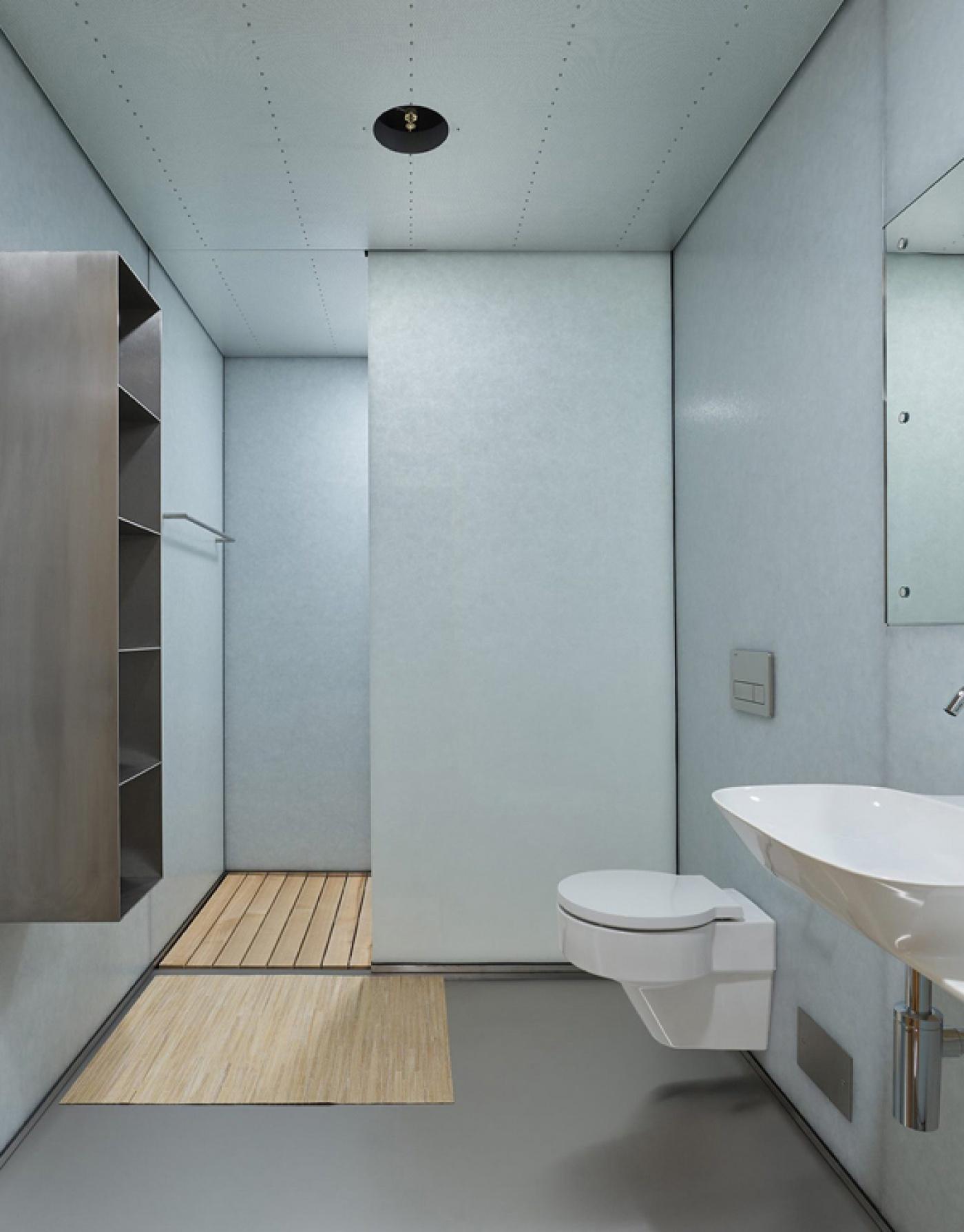 Polar White patiné mur cloison de salle de bain