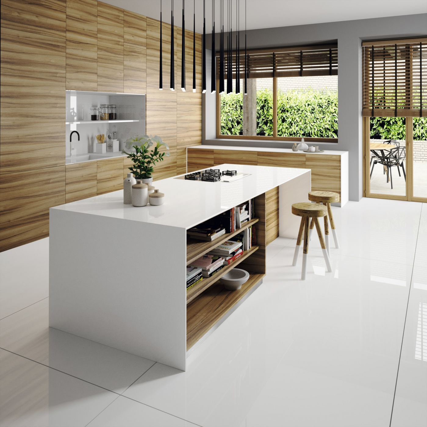 Quartzite Silestone Iconic White Plan de Travail Cuisine à Carqueiranne