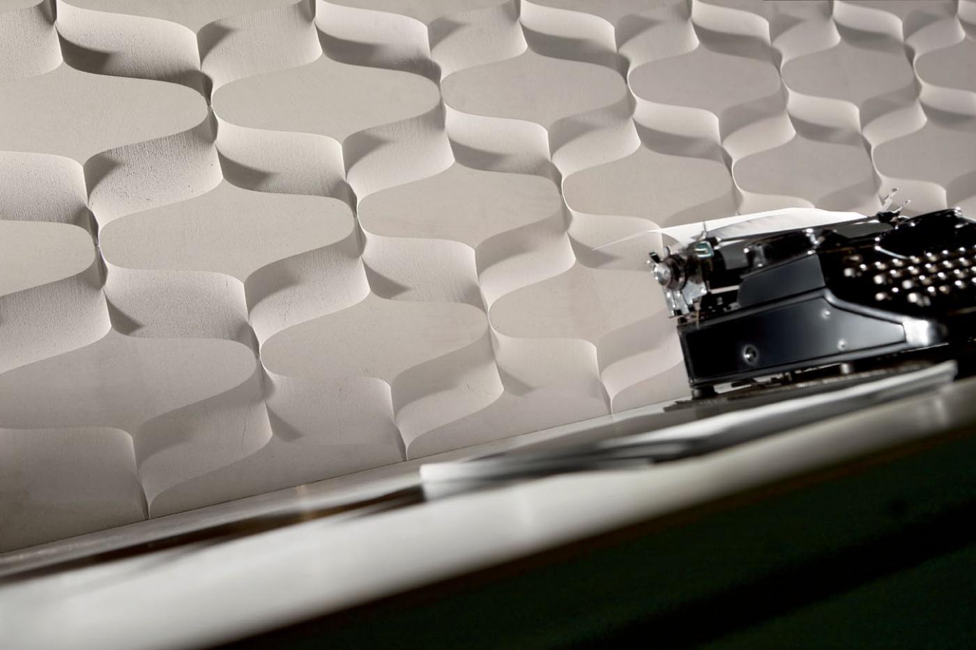 Revêtement mural Caliza Paloma façonnée et texturée en 3D