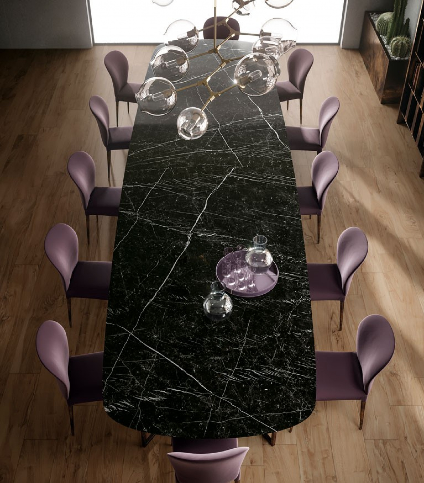Mobilier Céramique marbre noir marquina