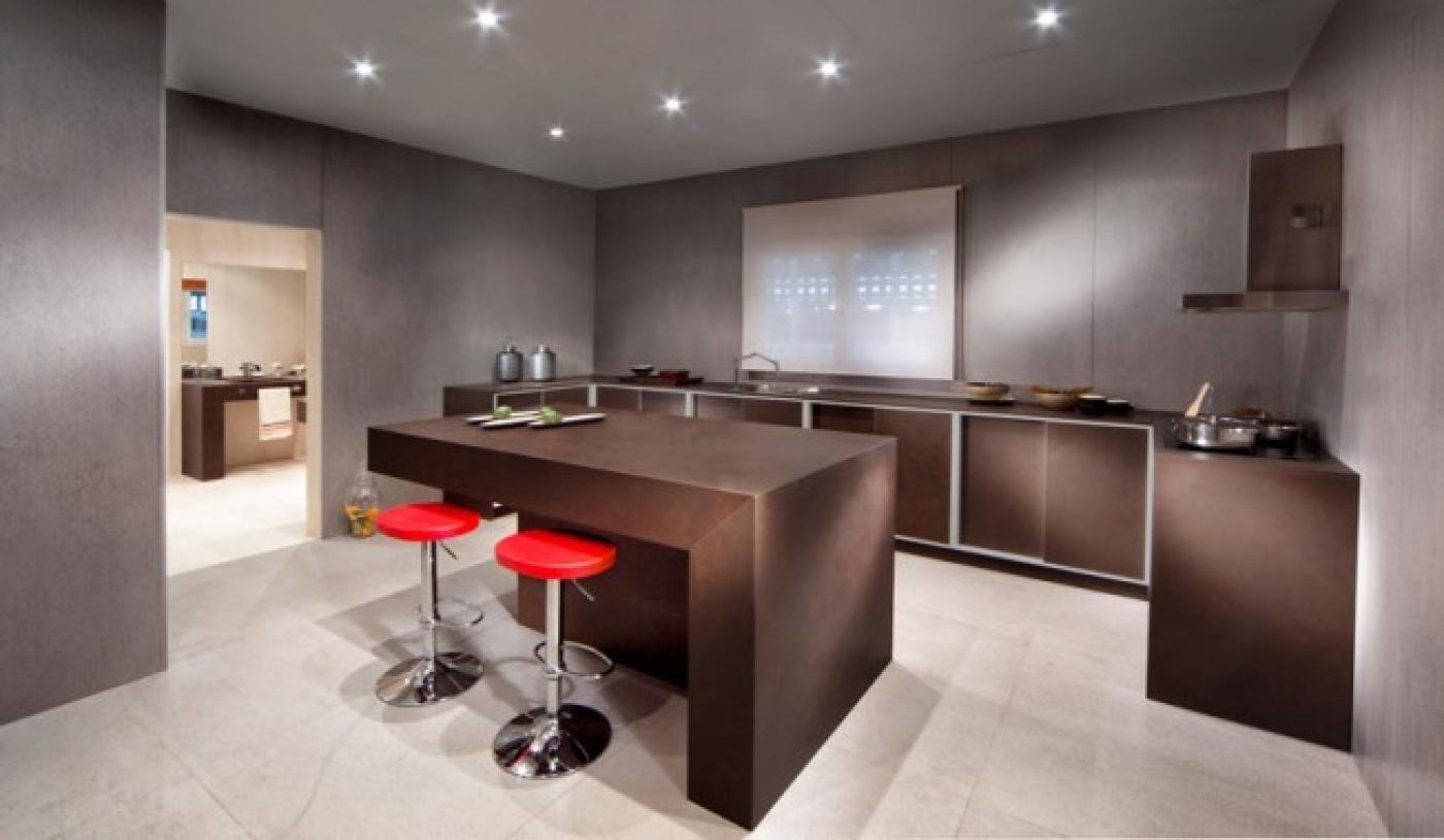 Dekton Keranium. Plan de travail de cuisine en céramique Pose de cuisine à Sainte-Maxime (Var)