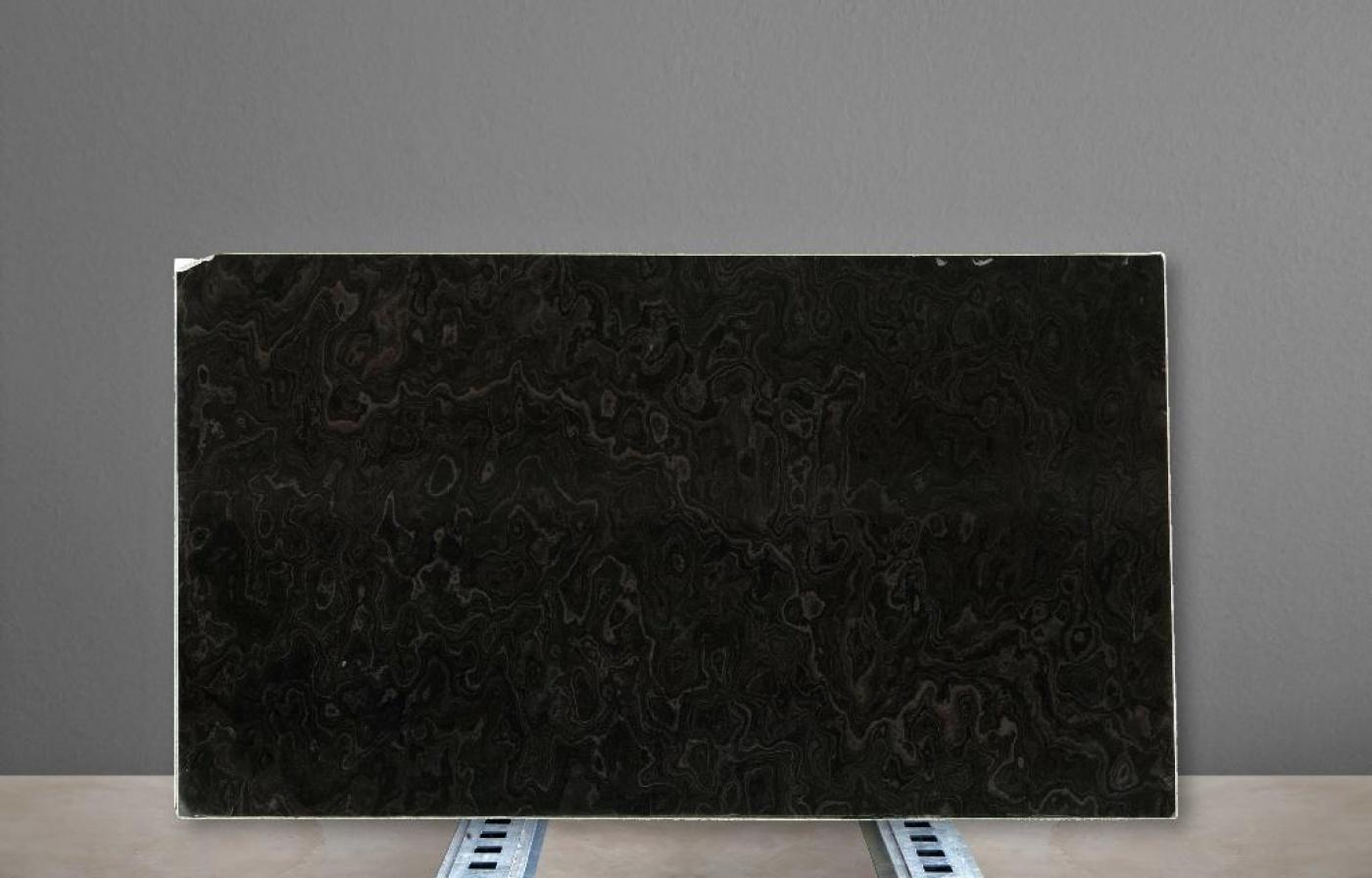 Glass Ceramic Black wood cross cut slabs