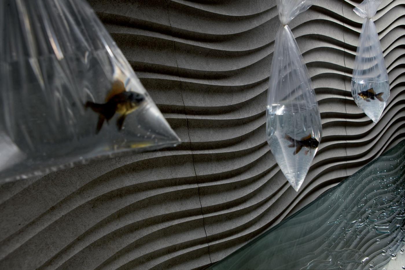 Revêtement mural Pietra Serena façonnée et texturée en 3D