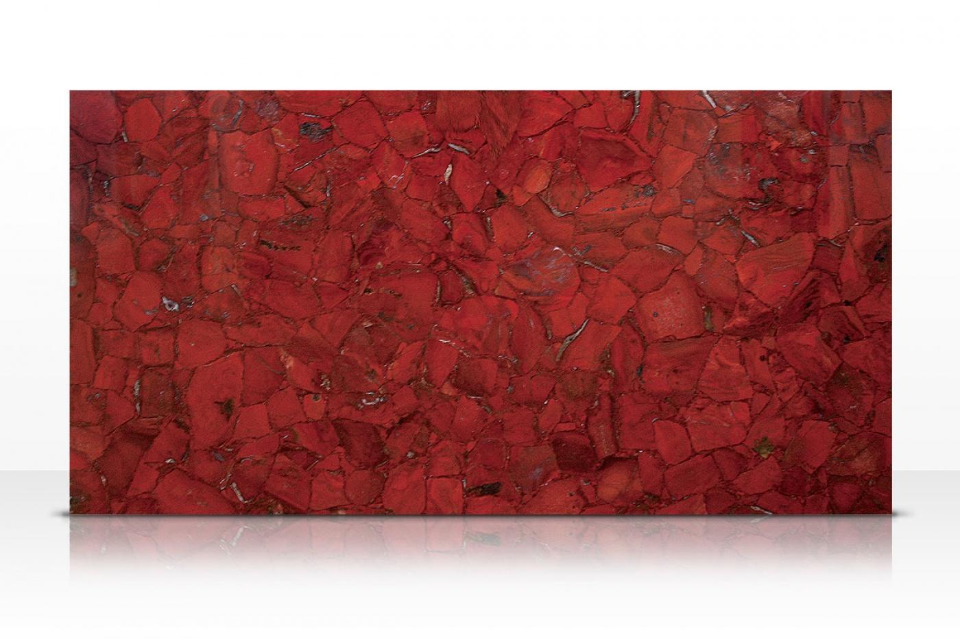Composite Quartz Red Jasper slab
