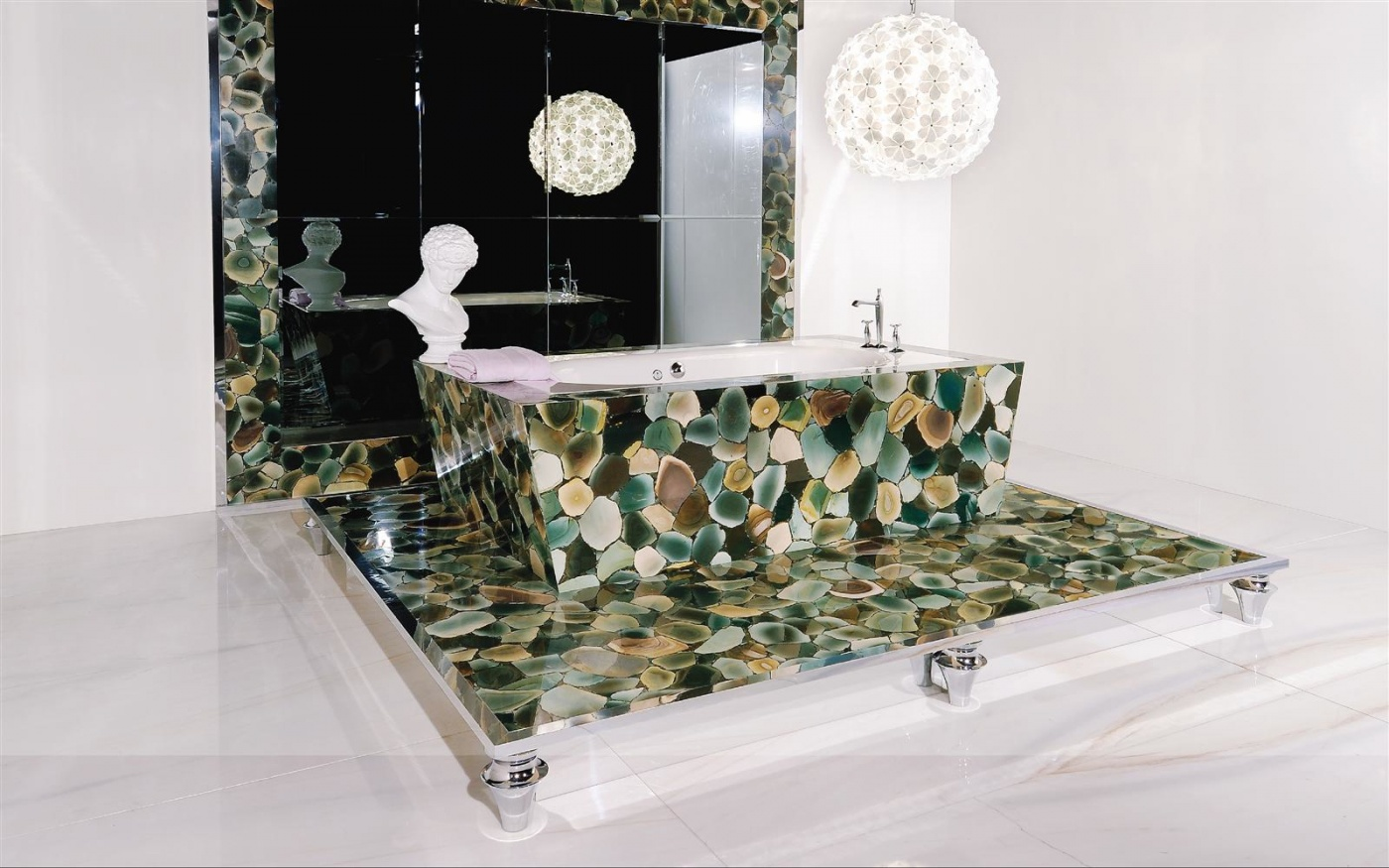 Pierre calcaire Angel Jasper bath room