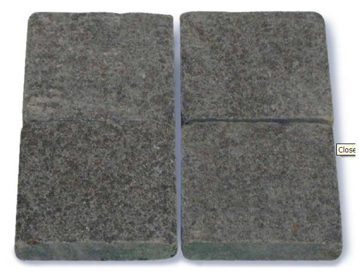 Pavés anciens Oriental Basalt 15x15x2cm flammé