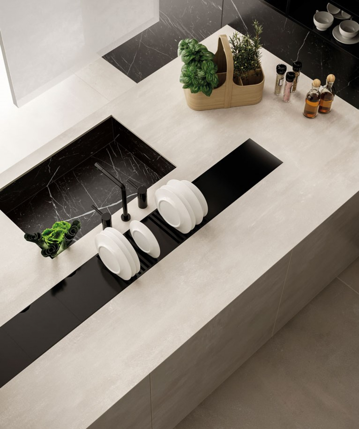 Granit Céramique pierre blanche