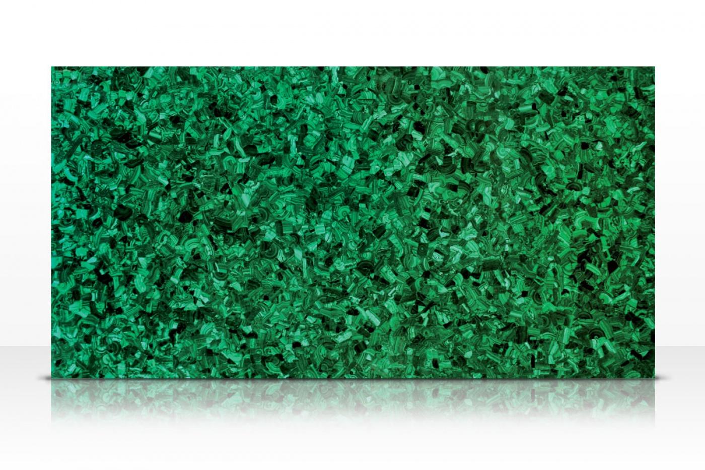 Semi-précieux Green Malachite slab