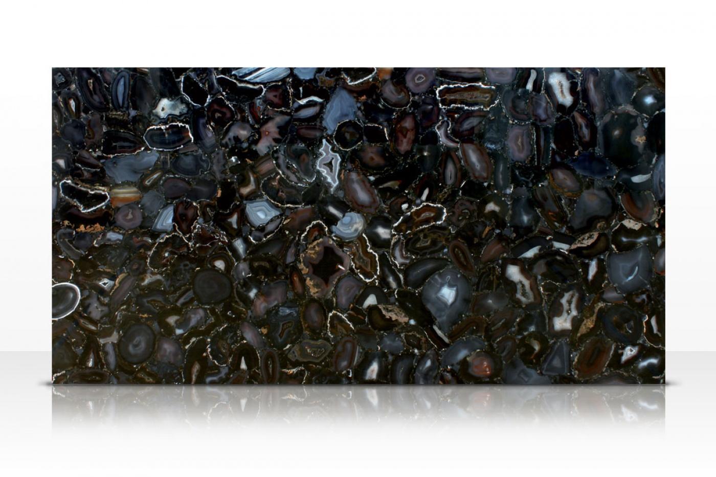 Granit Wild Agate black slab