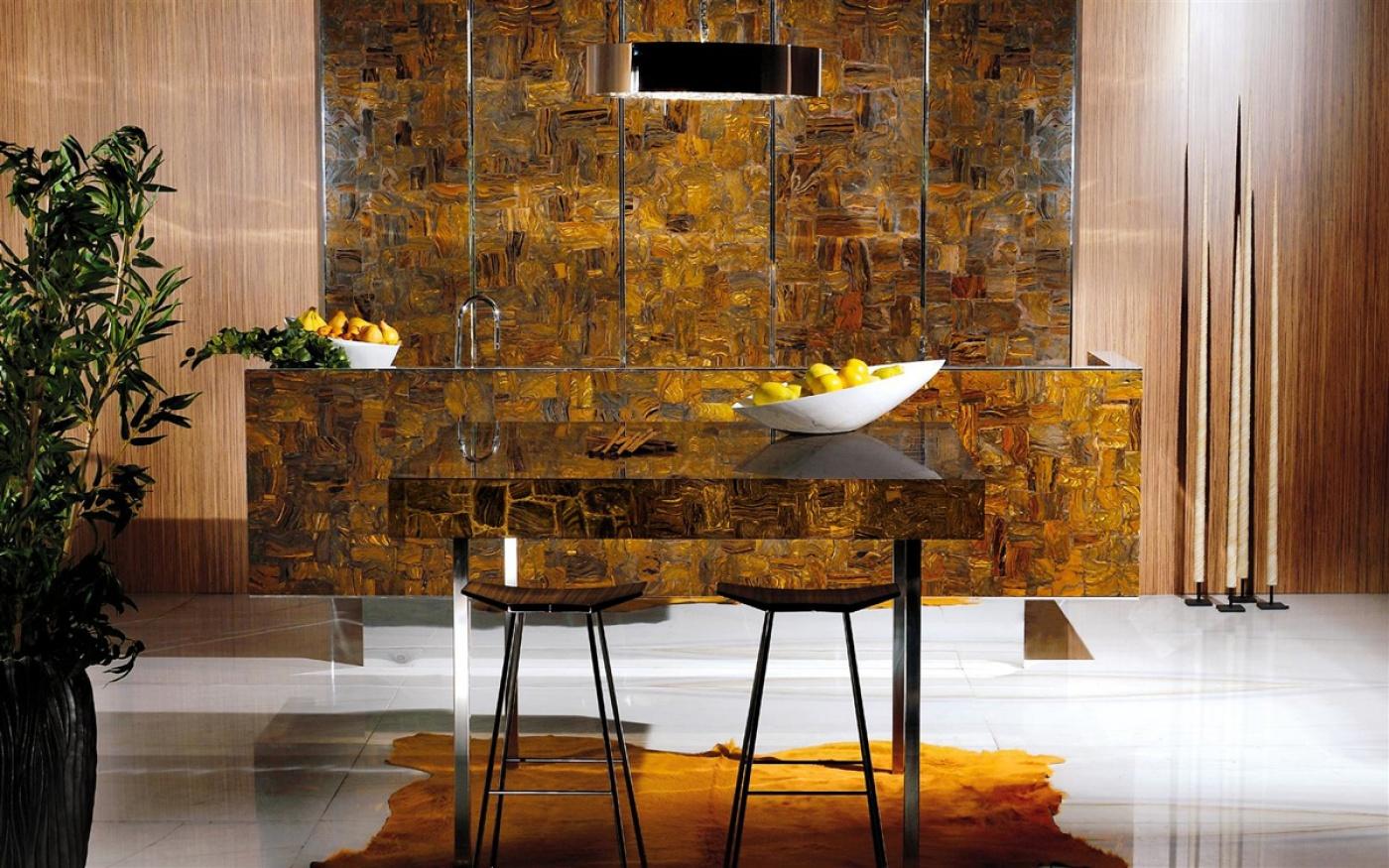 Granit Pierre semi-précieuse Tiger Iron