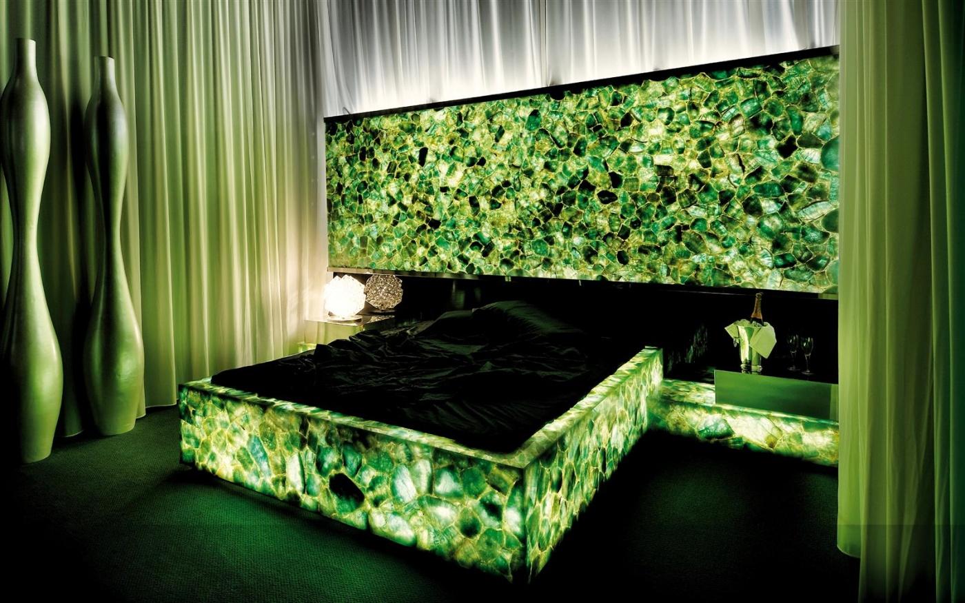 Emerald Fluorite backlit Bedroom