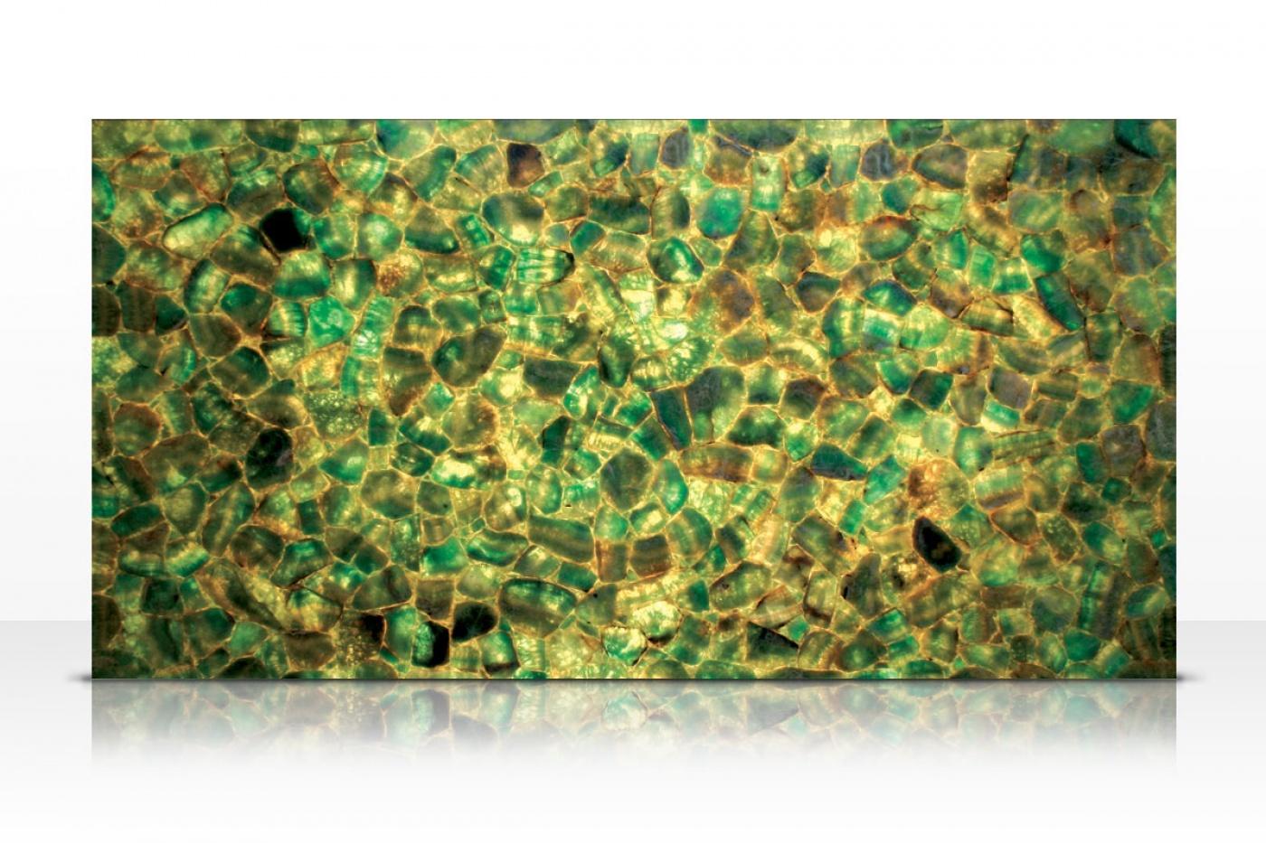 Emerald Fluorite backlit slab