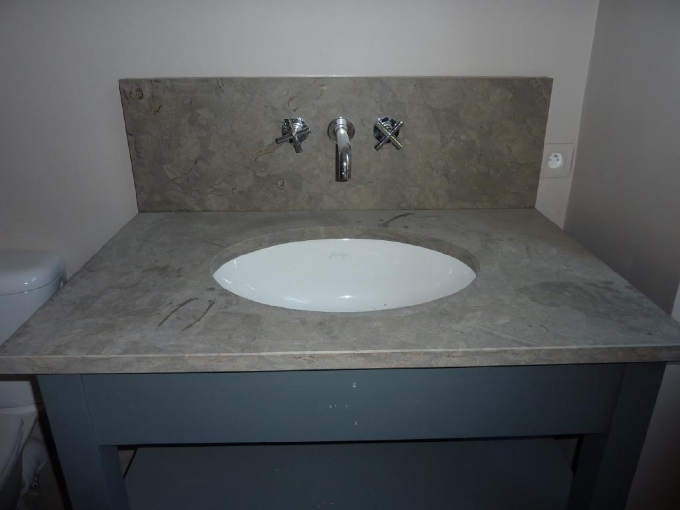 Plan vasque Azul Valverde. Chantier réalisé à Bormes les Mimosas (83) Architectes LAFOURCADE