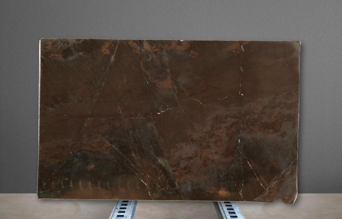 Marbre Plaque de quartzite marron Brown Vulcano