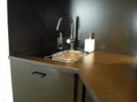 Leather finish Zimbabwe granite kitchentop.