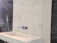 Bianco Carrara   Salle de bains en marbre Blanc de Carrare