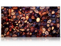 Natural Agate slab backlit