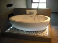 Salle de bain design en pierre Gris Barcelone Baignoire Boffi