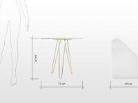 Mona: table d'appoint en Onyx blanc et laiton poli