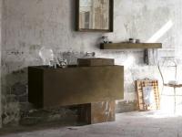 Bains avec meuble et accessoires Altamarea Must. Vasque en Arabescato Orobico Gold.