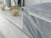 Bianco Carrare marble cabinet