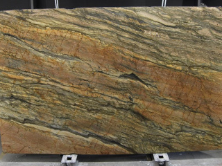Tranche de quartzite Brown fantasy gold