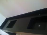 Double vasques Granit Noir Zimbabwé cuir. Chantier à Chateaurenard (13) Architectes LAFOURCADE