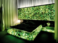 Emerald Fluorite backlit Bedroom