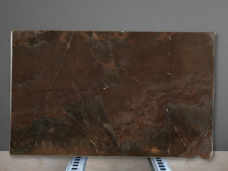 Plaque de quartzite marron Brown Vulcano