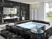 Black Obsidian bath