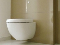 Habillage toilettes en Quartz Maron Canela.