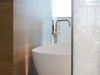 Polar White Cloison de salle de bains translucide