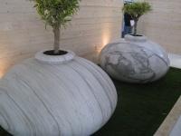 Jardinière massive en Calacatta