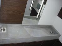Vasque assemblée sur mesure en pierre Gris Barcelone. Effet beton ciré