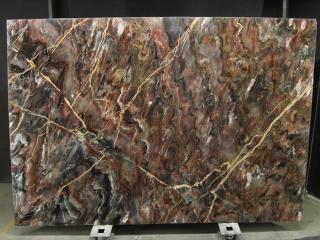 Venice Black marble slabs tranche de marbre veiné noir marron et or