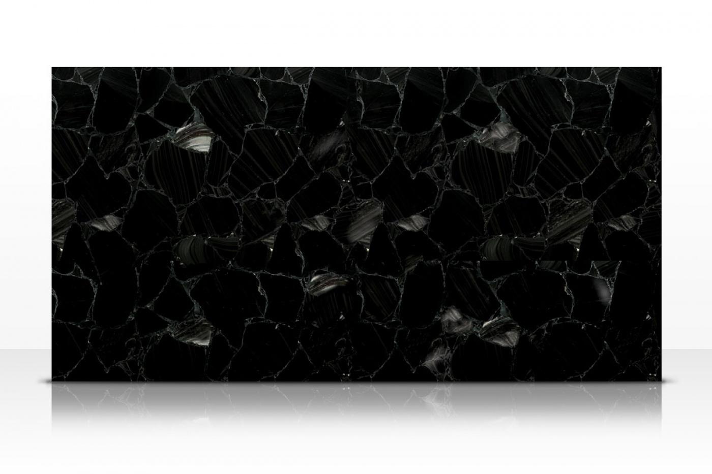 Semi-précieux Black Obsidian slab
