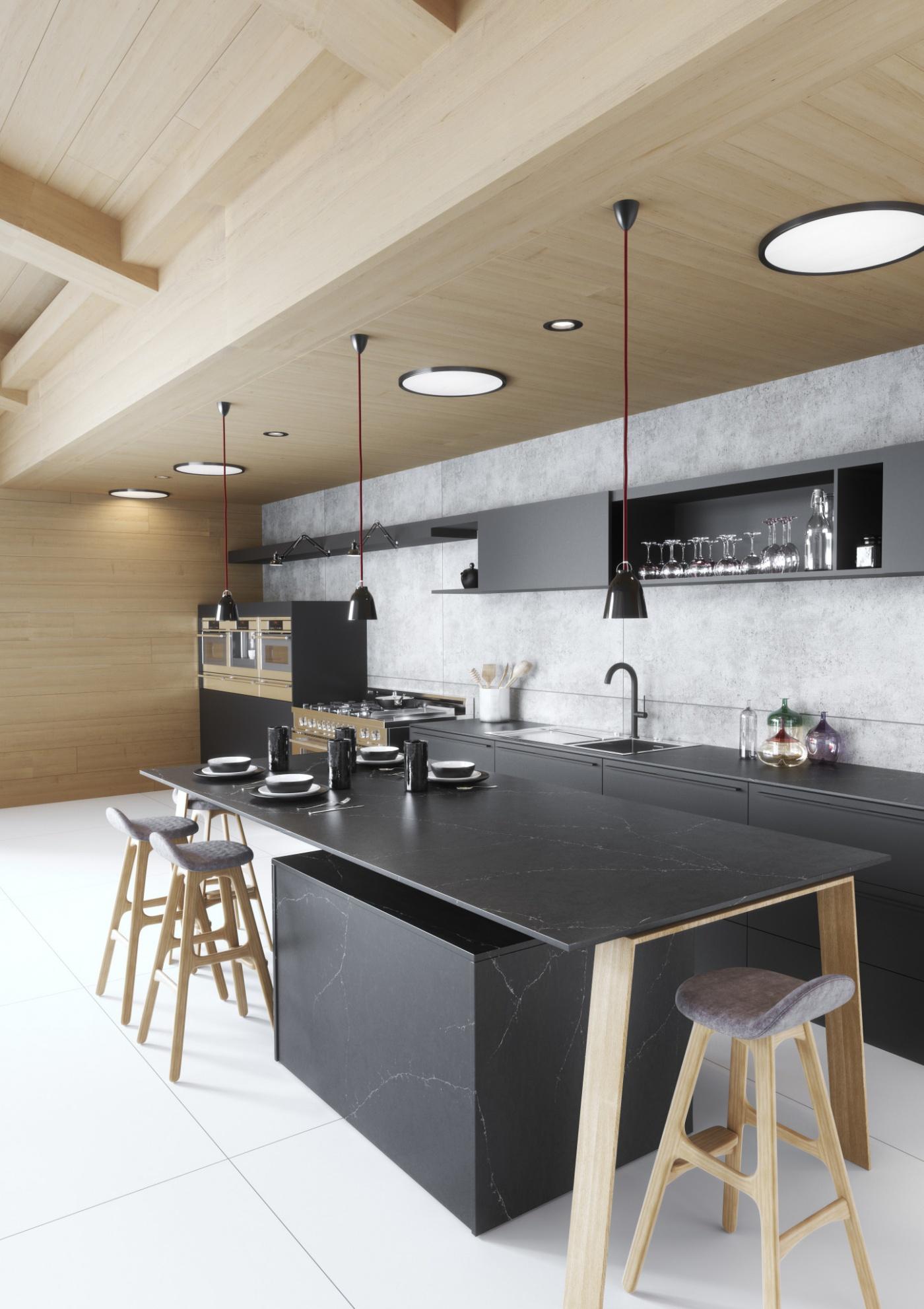 Granit Silestone Charcoal Soapstone Plan de travail