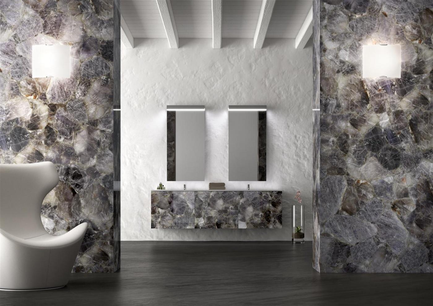 Pierre calcaire Blue Quartz Bathroom